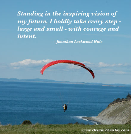 standing in the inspiring vision of my future by jonathan