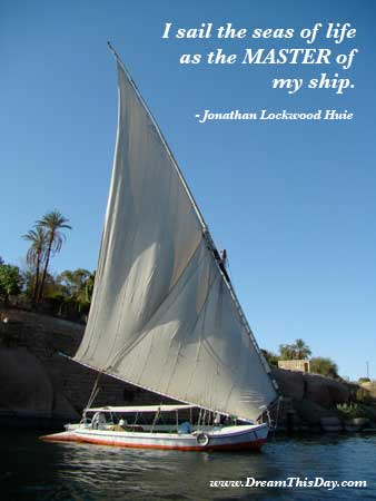 Quotes About Sailing And Life Unique I Sail The Seas Of Life As The Master Of My Ship.jonathan